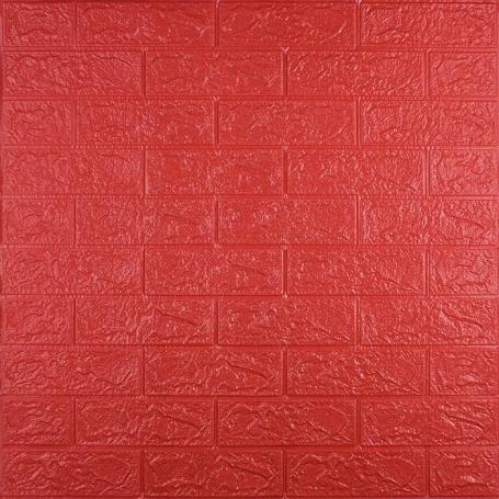 Самоклеющаяся 3D панель под красный кирпич 700x770x3мм