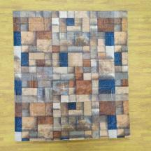 Самоклеющаяся 3D панель под кирпич цветная мозаика 700x770x4мм