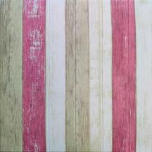 Самоклеюча 3D панель під ніжно-рожеве дерево 700x700x4мм