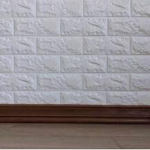 Самоклеющийся гибкий коричневый плинтус 240х8 см