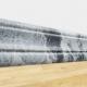 Самоклеющийся плинтус под черный мрамор для стен