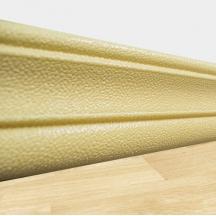 Самоклеющийся гибкий бежевый плинтус 240х8 см