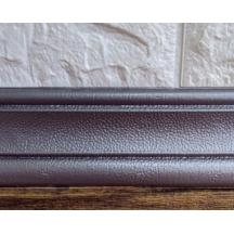 Самоклеющийся гибкий серебристый плинтус 240х8 см
