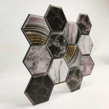 Декоративная ПВХ плитка на самоклейке соты 300*300*5мм, (СПП-001)
