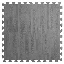 Пол пазл - модульное напольное покрытие темно-серое дерево 580x580x9мм