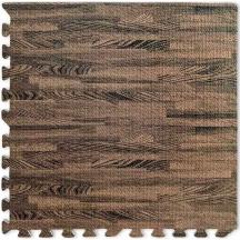 Пол пазл - модульное напольное покрытие темное дерево  600x600x10мм
