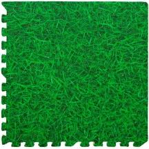 Пол пазл - модульное напольное покрытие зеленая трава 600x600x10мм