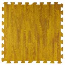 Пол пазл - модульное напольное покрытие янтарное дерево  600x600x10мм