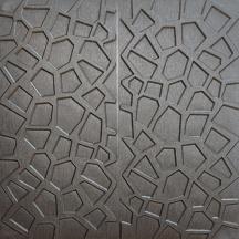 Самоклеющаяся 3D панель серебряная паутинка 700x700x8мм