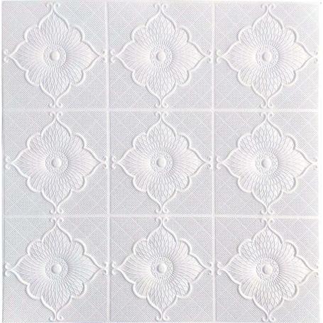Самоклеющаяся 3D панель белая лилия 700x700x5мм