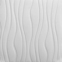 Самоклеющаяся 3D панель белая волна 700x700x7мм