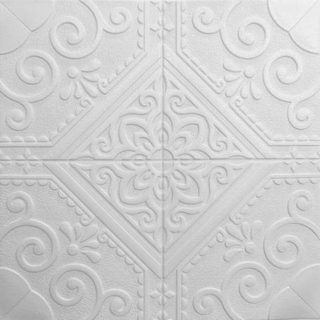 Самоклеющаяся 3D панель белая романтика 700x700x7.5мм