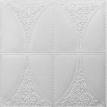 Самоклеющаяся 3D панель белая роза 700x700x5мм