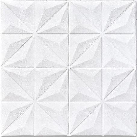 Самоклеющаяся 3D панель белая ромашка 700x700x5мм